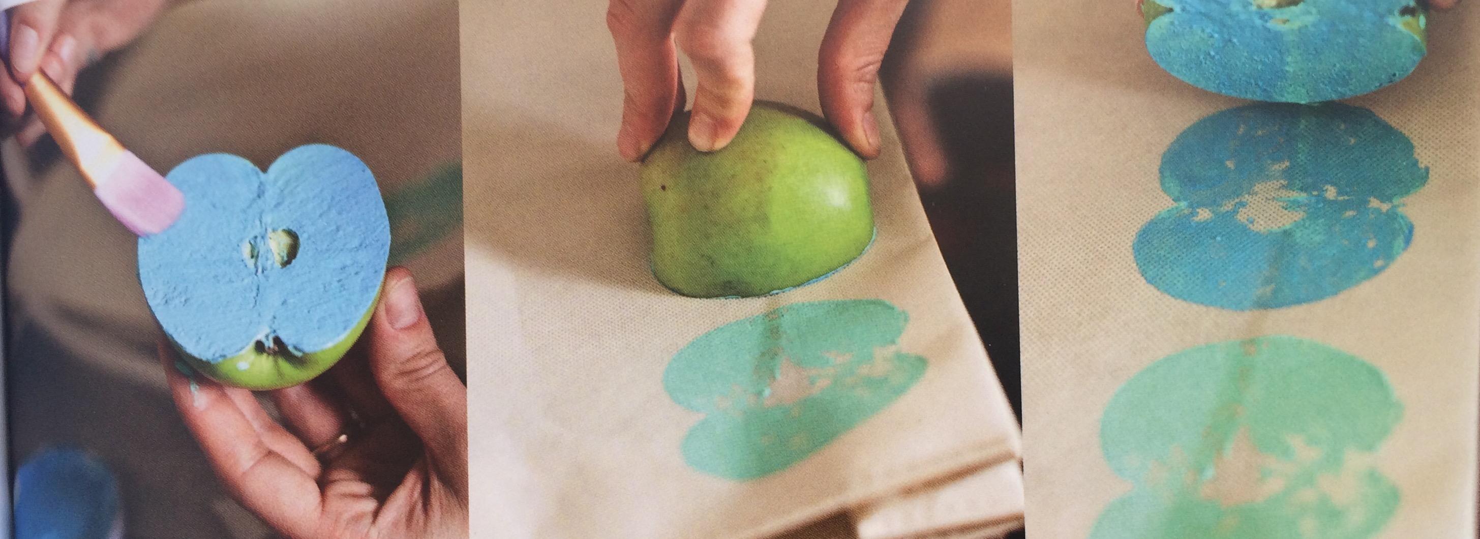 Bolso estampado con manzanas