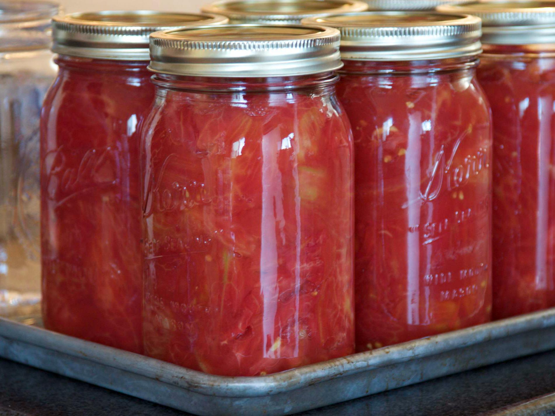 Conserva de tomates
