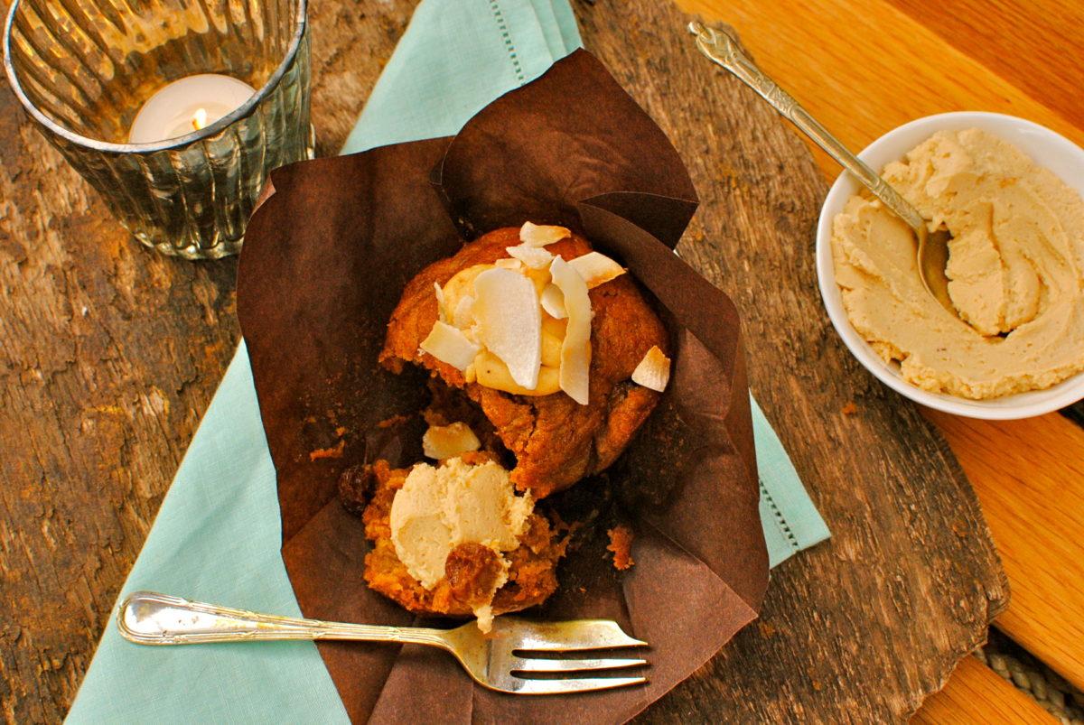 Muffins de té chai y avena Quaker