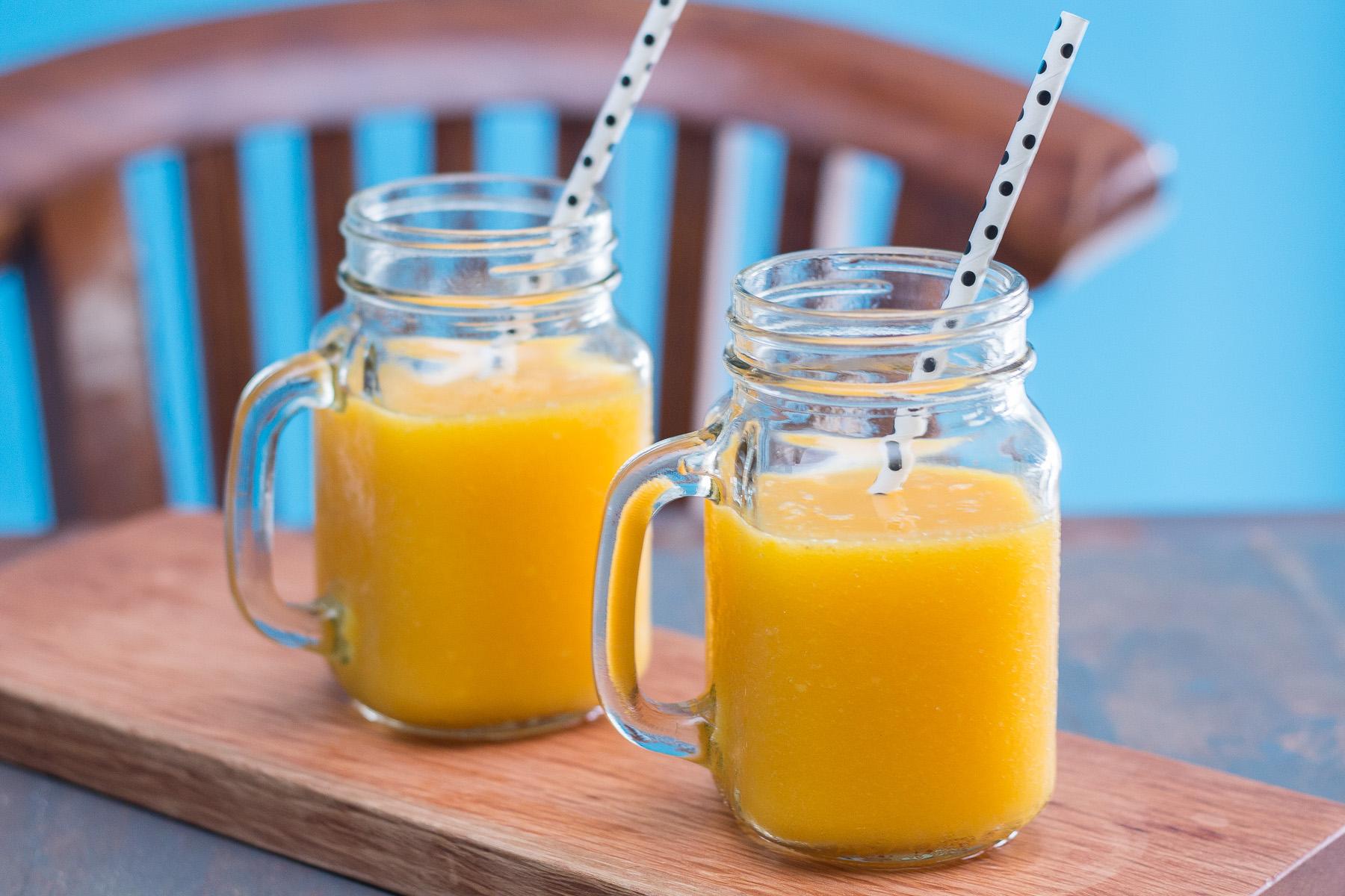 Smoothie de mango plátano