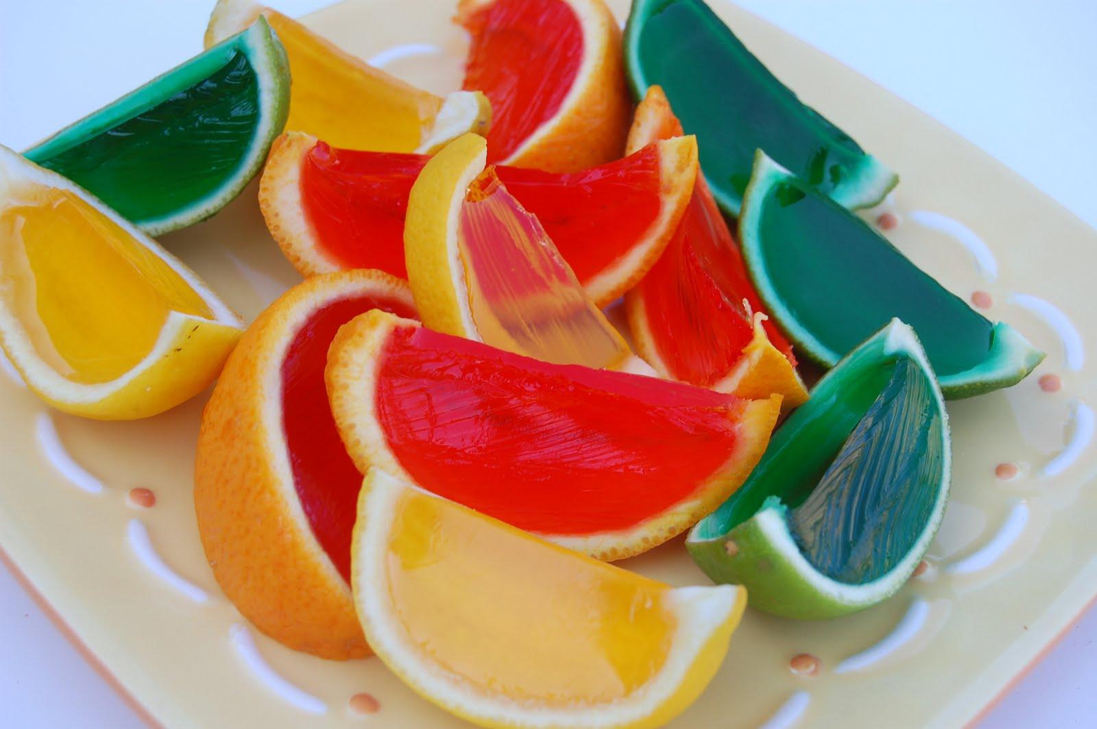 Gelatinas de té con fruta