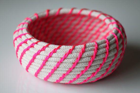 Cómo hacer un canasto con una cuerda