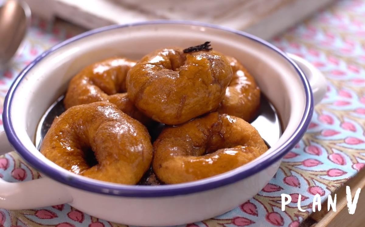 Picarones con chancaca