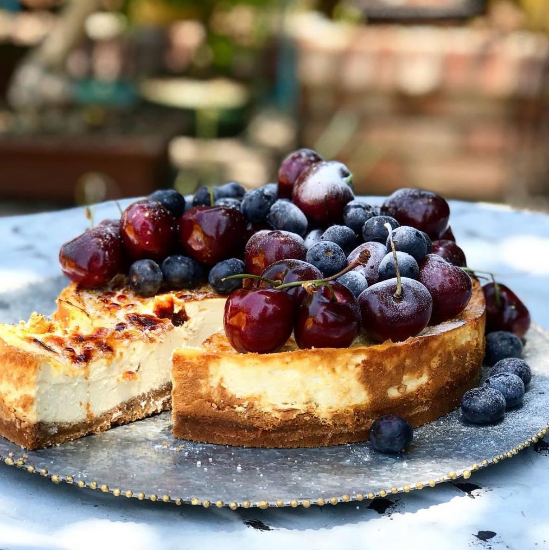 Cheesecake Brulee Navideño