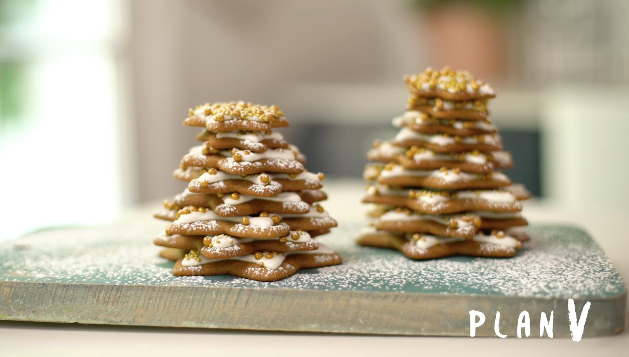 Árbol de galletas navideñas decoradas